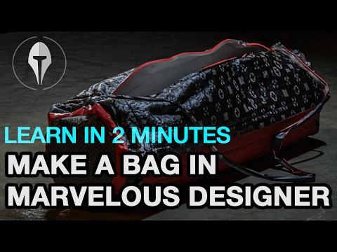 2MINLearning - How to make a sport bag in marvelous designer