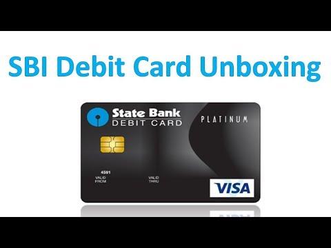 SBI Platinum debit card unboxing - SBI YONO Debit Card