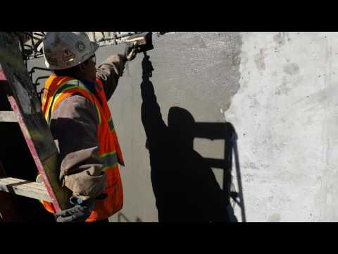 How to finishing a concrete wall