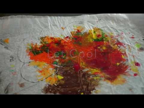 Wax Paper & Shaved Crayons | Crayon Tree | EASY Kids DIY | FALL kindergarten UNIT
