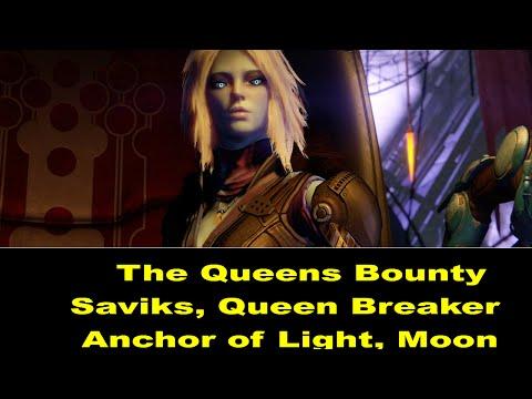Destiny Queen's Bounty Saviks Queen Breaker and Chest, Anchor of Light Moon