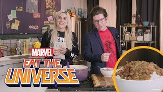 Gambit and Rogue's Rice and Beans with Lane Moore | Eat The Universe