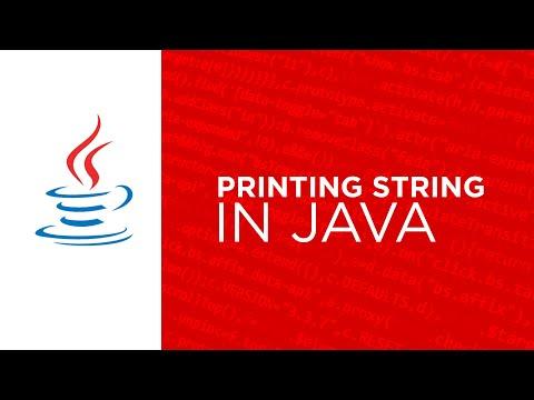 printing string  in java