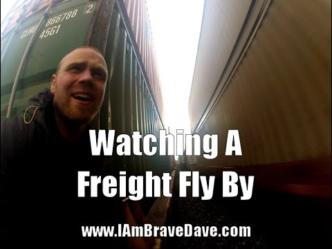Watching A Freight Train Fly By At Speed