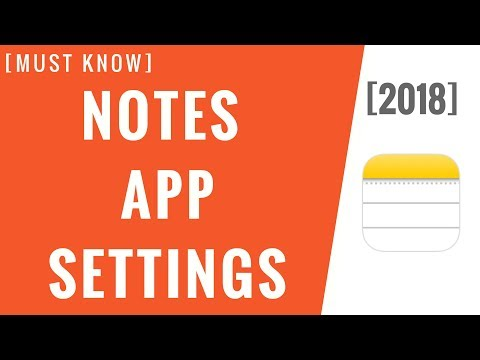 Important Notes App Settings! [Step-By-Step]