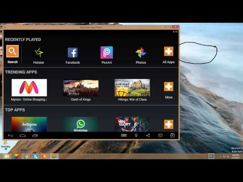 how to download android apps in pc with help of bluestacks