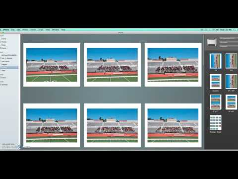 How to create a PDF of a contact sheet in iPhoto