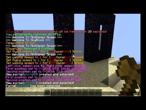 Minecraft: Multiverse Portals Plugin Tutorial - 1.7.8+