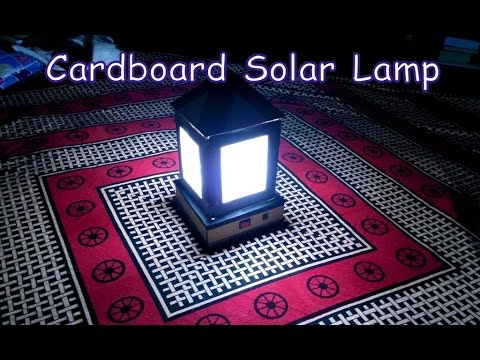 HOW TO MAKE A CARDBOARD SOLAR LAMP