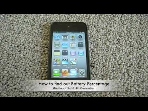 How to check iPod touch Battery Percentage- [no jailbreak]