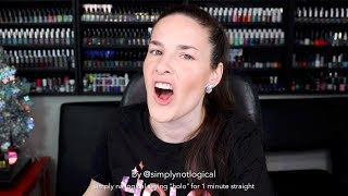 """simply nailogical saying """"holo"""" for 1 minute straight"""