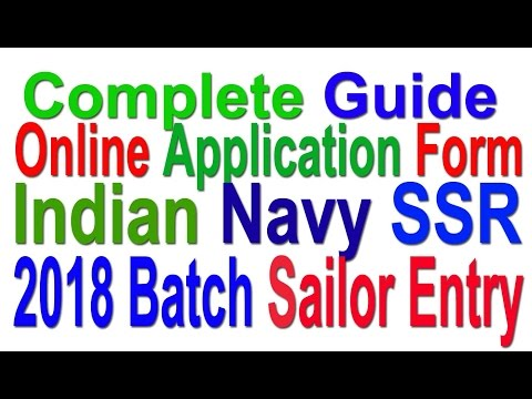 latest Update | Indian Navy SSR Sailor Entry 2018 Batch | Fill Application online