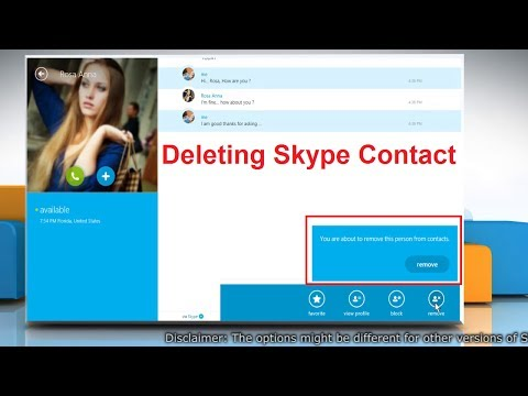 Removing a Skype Contact in Skype® for Windows® 8