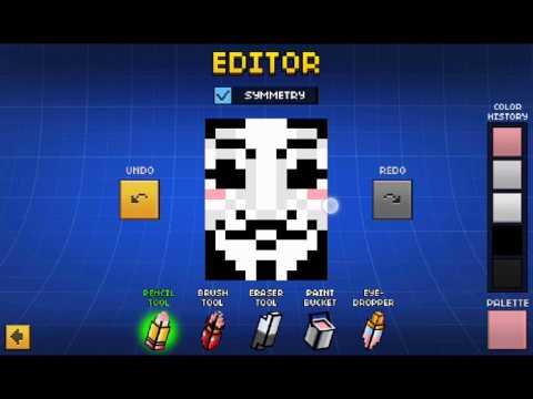 Anonymous Cape Tutorial: Pixel Gun 3d