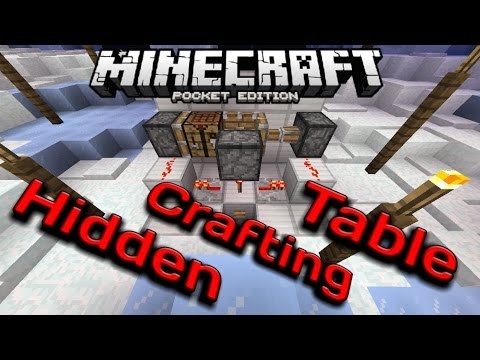 How to Make a Hidden Crafting Table System! - MCPE Redstone Tutorial - Easy, Simple Tutorial