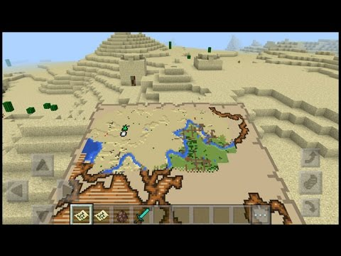 How TO Get A Treasure Map In Minecraft pe  | minecraft pocket edition ( mcpe )
