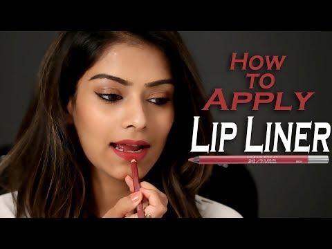 How To Apply Lip Liner | Lip Liner Tutorial | Correct Way To Apply Lip Liner | Foxy Makeup Tutorials
