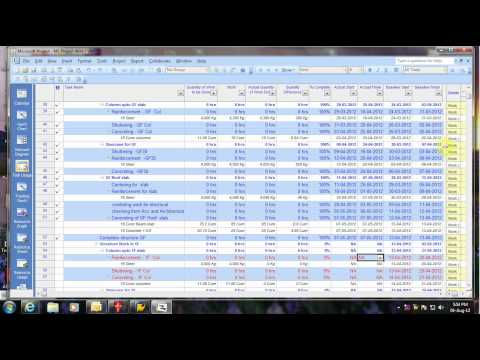Project Cost Report & Control technique by using EVM In MSP.avi
