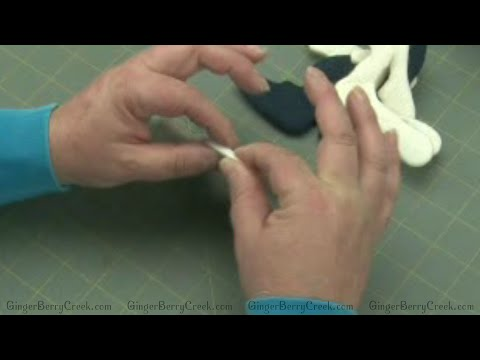 Rolling Wool Felt Seams for Primitive Doll Patterns