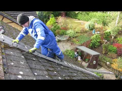 Roof Cleaning Aberdeenshire - Scraping Roof Tiles