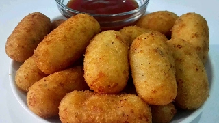 Spicy Potato Nuggets | Easy Party Starter Recipe || Cheesy potato Nuggets