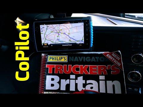 CoPilot TRUCK satnav planning simple HGV route test