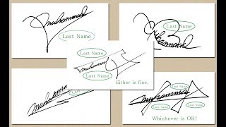 Are you happy with the present signature?【www best
