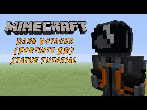 Minecraft Tutorial: Dark Voyager (Fornite Battle Royale) Statue
