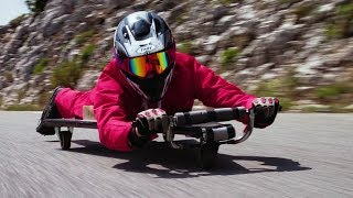 Homemade Racer with NO BRAKES! 50 MPH!