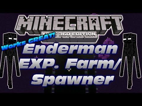Minecraft Xbox 360: Enderman EXP. Farm/ Spawner! It works really good!