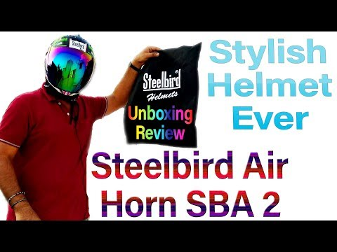 Steelbird Air Horn SBA 2 Unboxing & Review 🙏PLEASE WEAR HELMET FOR YOU & YOUR FAMILY 👨‍👨‍👦 Hindi