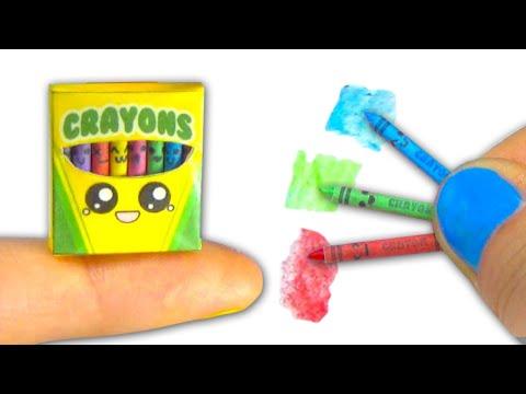 Miniature kawaii crayons (actually work) and box tutorial DIY ❤ - YolandaMeow♡