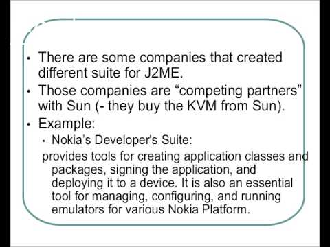 Java Platform, Micro Edition J2ME Introduction tutorial for Beginners