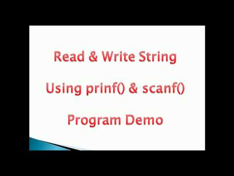 Read and Display String using printf() and scanf() in C programming