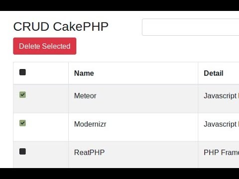 Delete Selected - CRUD with CakePHP [Part 8]
