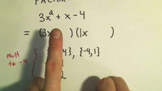 Factoring Trinomials A Quadratic Trinomial By Trial And Error