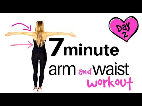 EXERCISE HOME WORKOUT - ARM EXERCISES FOR WOMEN AND WAIST WORKOUT - No equipment needed