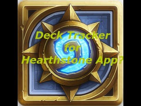 Hearthstone app w/Arcane tracker gameplay