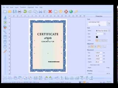 How to create and print a Certificate of Birth