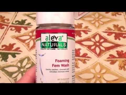 HOW TO CLEAN YOUR VAGINA ..Aleva Naturals Foaming Feminine Wash -- 6.7 fl oz