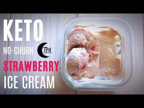 Keto Strawberry Ice Cream | Low-Carb No-Churn Ice Cream Recipe | Sugar-Free Ice Cream