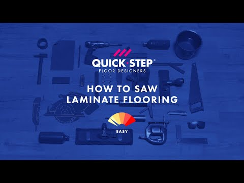 How to saw or cut laminate flooring | Tutorial by Quick-Step