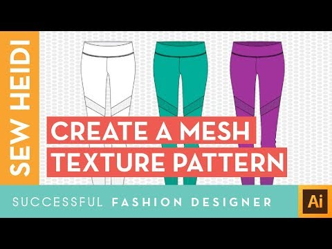How to Create Mesh Repeating Pattern Texture in Illustrator