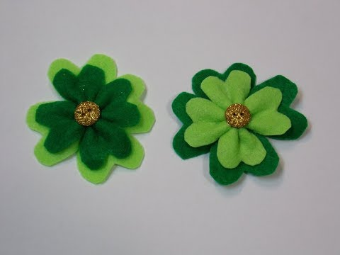 A Fast And Easy Shamrock Felt Pin For St. Patrick's Day