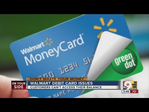 Wal-Mart customers experiencing issues with store debit card