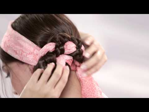 Scarf Hairstyles - How To Create A Head Scarf Hair Braid - Pureology