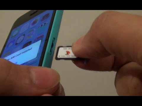 iPhone 5C: How to Insert or Remove SIM Card
