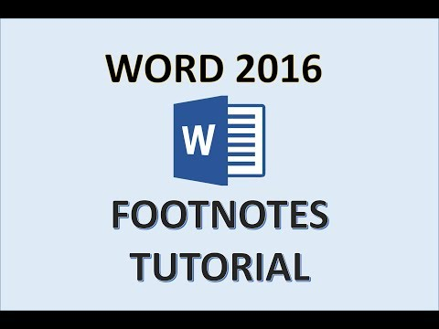 Word 2016 - How To Add Footnotes - Insert Footnote Tutorial in Microsoft Office 365 - Make Foot Note