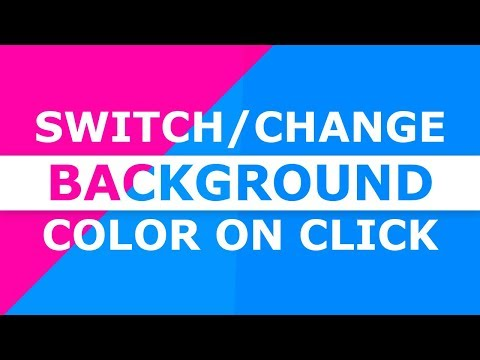 Change Background Color On Click - HTML CSS and Javascript