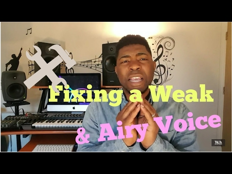 FIXING A WEAK, AIRY VOICE | VOCAL FRY- Making Your Singing Fuller- Singing Lessons